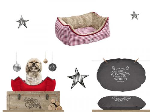 couchages de Noël chiens et chats